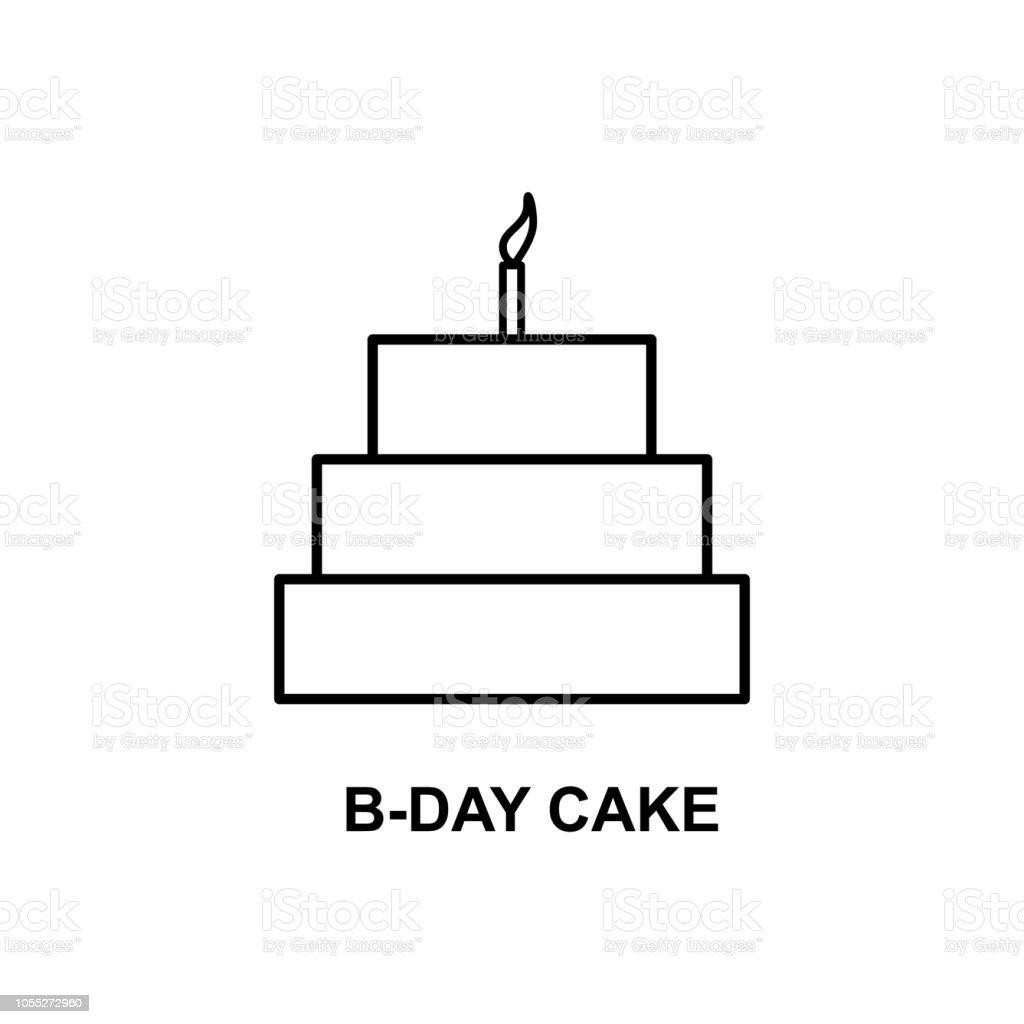 誕生日ケーキのアイコン携帯の概念と Web アプリの名前と簡単な Web アイコンの要素web とモバイル細い線誕生日ケーキ アイコンを使用できます お祝いのベクターアート素材や画像を多数ご用意 Istock