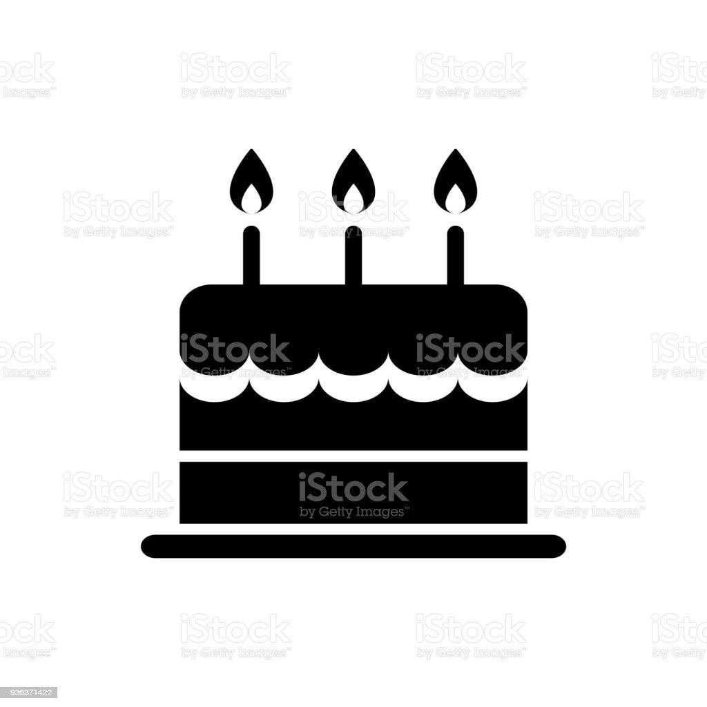 Geburtstag Kuchen Icon Isoliert Vektor Stock Vektor Art Und Mehr