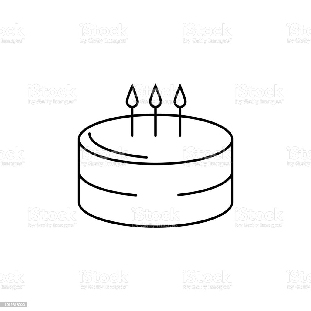 Birthday Cake Icon Stock Vector Art More Images Of Abstract
