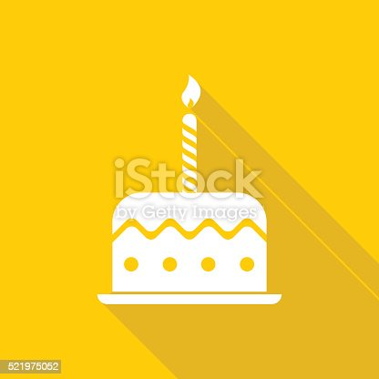 Birthday cake icon. Global colour used.