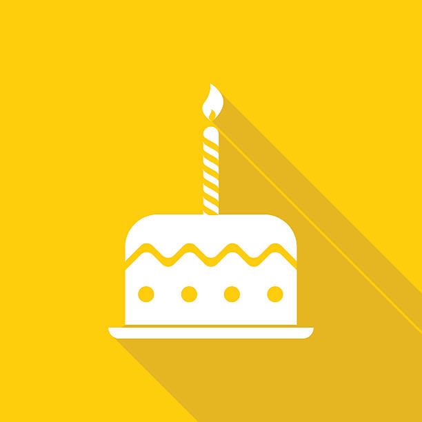 birthday cake icon - happy birthday cake stock illustrations, clip art, cartoons, & icons