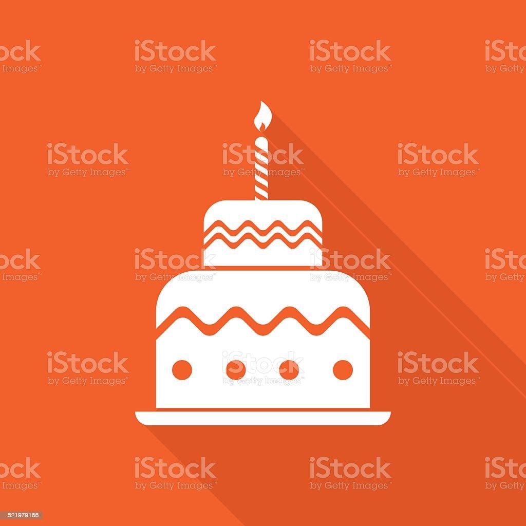 Gâteau d'anniversaire icône - Illustration vectorielle