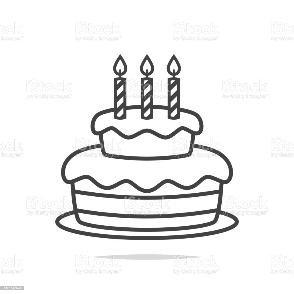 Birthday Cake Icon Stock Vector Art More Images Of Bakery