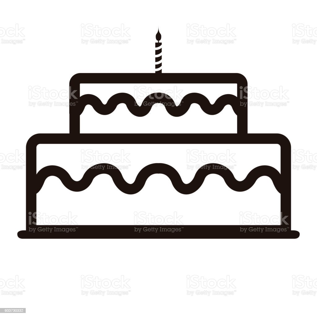 Birthday Cake Icon Stock Vector Art More Images of Backgrounds