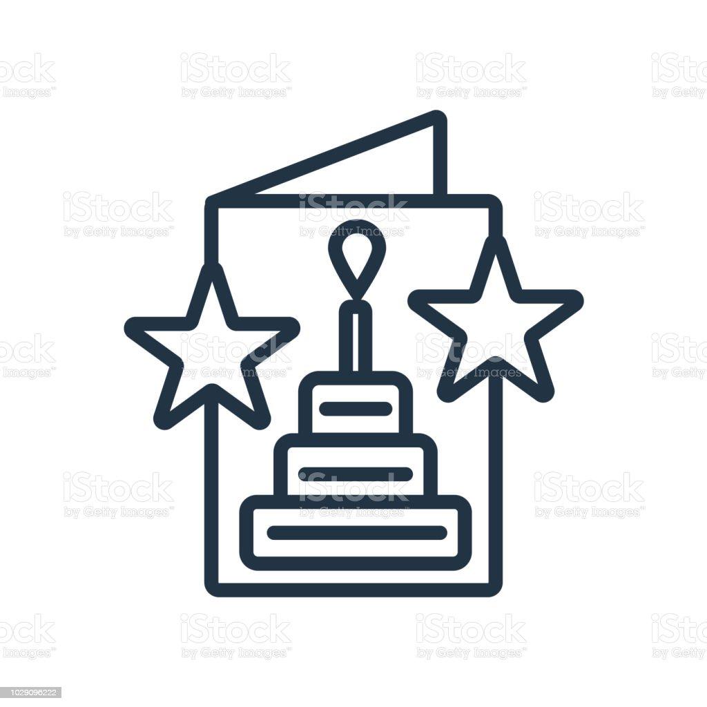 Geburtstag Kuchen Symbol Vektor Isoliert Auf Weissem Hintergrund