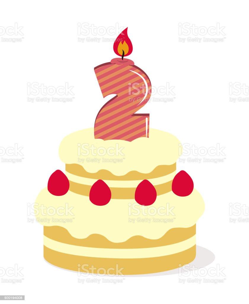 Peachy Birthday Cake Illustration Stock Illustration Download Image Now Funny Birthday Cards Online Amentibdeldamsfinfo