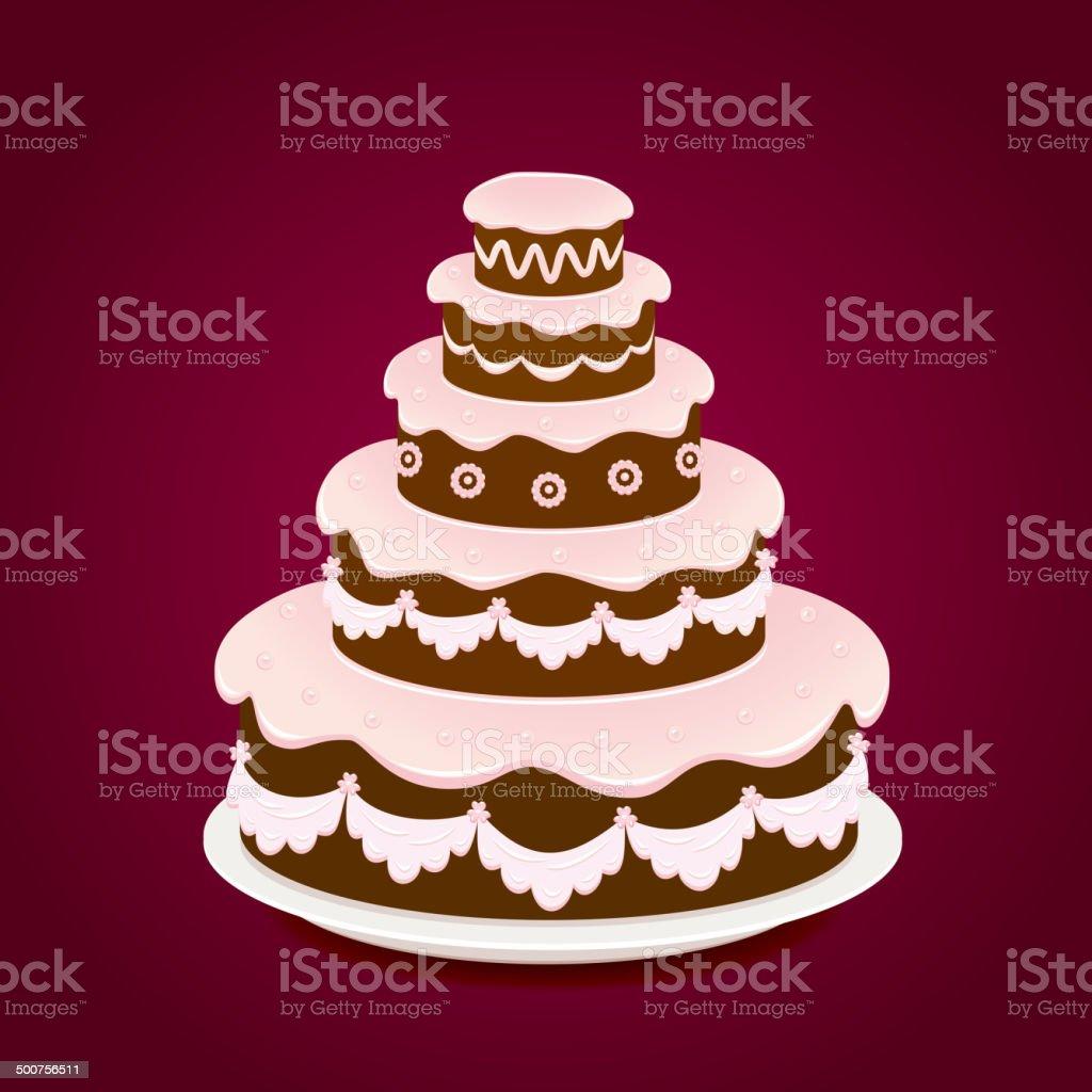 Stupendous Birthday Cake On Red Background Stockvectorkunst En Meer Beelden Personalised Birthday Cards Sponlily Jamesorg