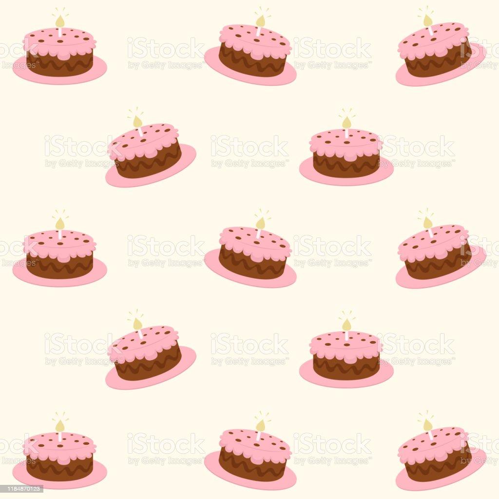 Modele De Gateau Danniversaire Vecteurs Libres De Droits Et Plus D Images Vectorielles De Aliment Istock