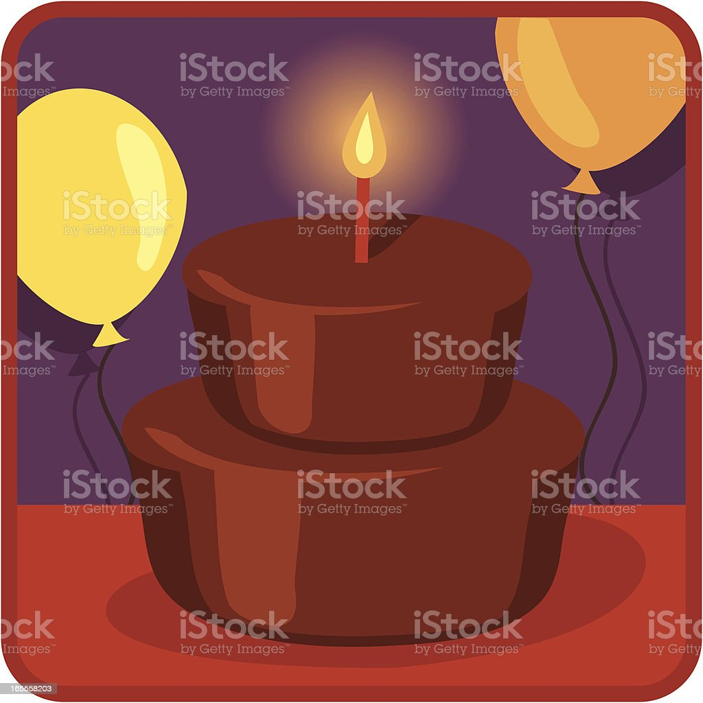 Birthday Cake: Retro Style vector art illustration
