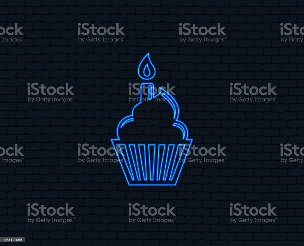 Birthday cake sign icon. Burning candle symbol. royalty-free birthday cake sign icon burning candle symbol stock vector art & more images of art