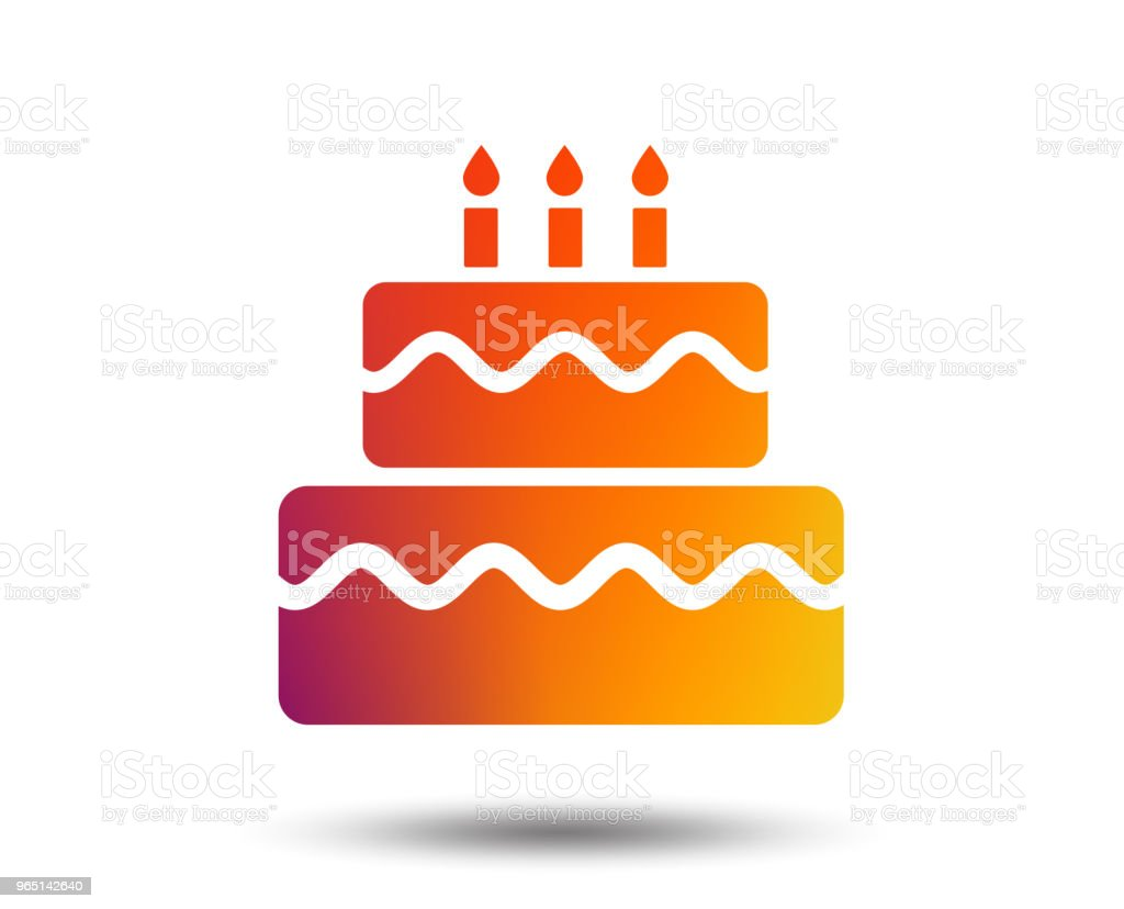 Birthday cake sign icon. Burning candles symbol. royalty-free birthday cake sign icon burning candles symbol stock vector art & more images of art