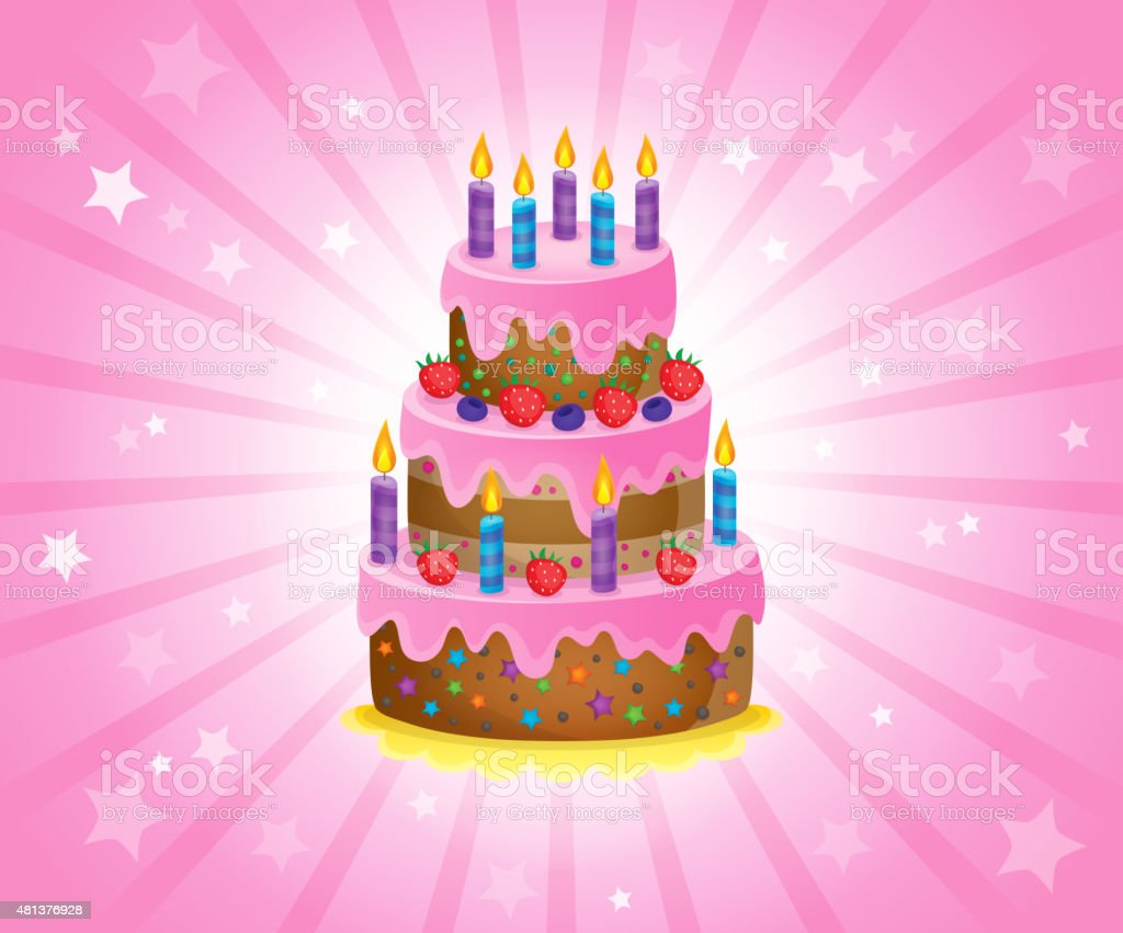 Birthday Cake Images Vektor ~ Royalty free huge birthday cake clip art vector images