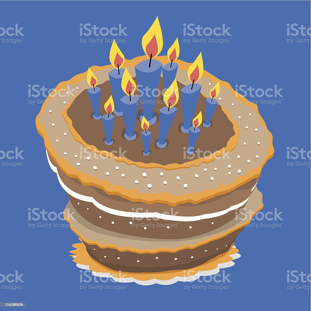 Birthday Cake royalty-free birthday cake stock vector art & more images of aging process