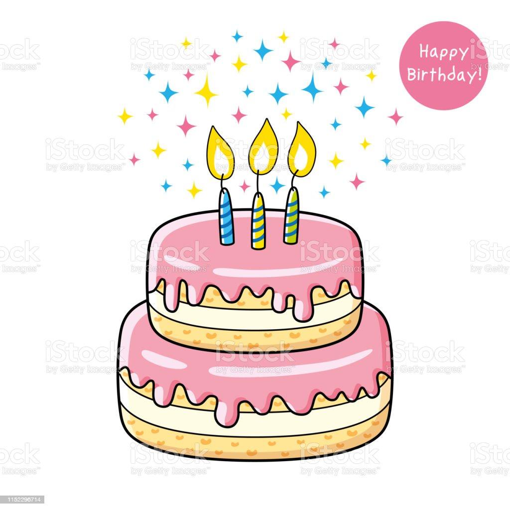 Geburtstagstorte Clipart Illustration Torte Png Herunterladen