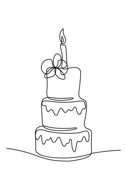 43 Simple Drawing Of A Wedding Cake Illustrations Royalty Free Vector Graphics Clip Art Istock
