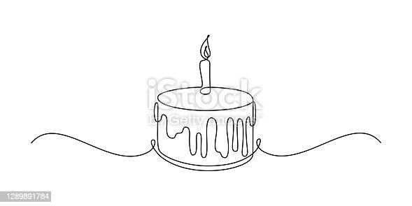 istock Birthday cake 1289891784