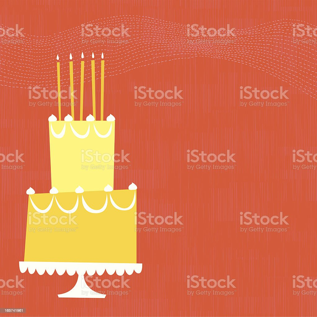 Birthday Cake royalty-free birthday cake stock illustration - download image now