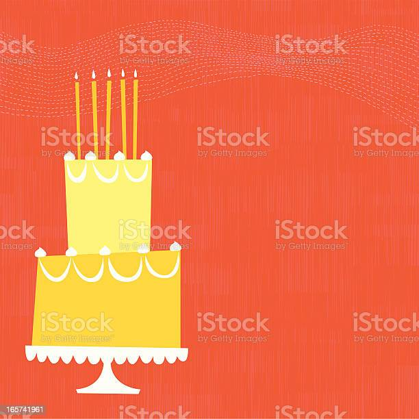 Birthday Cake Stock Illustration - Download Image Now