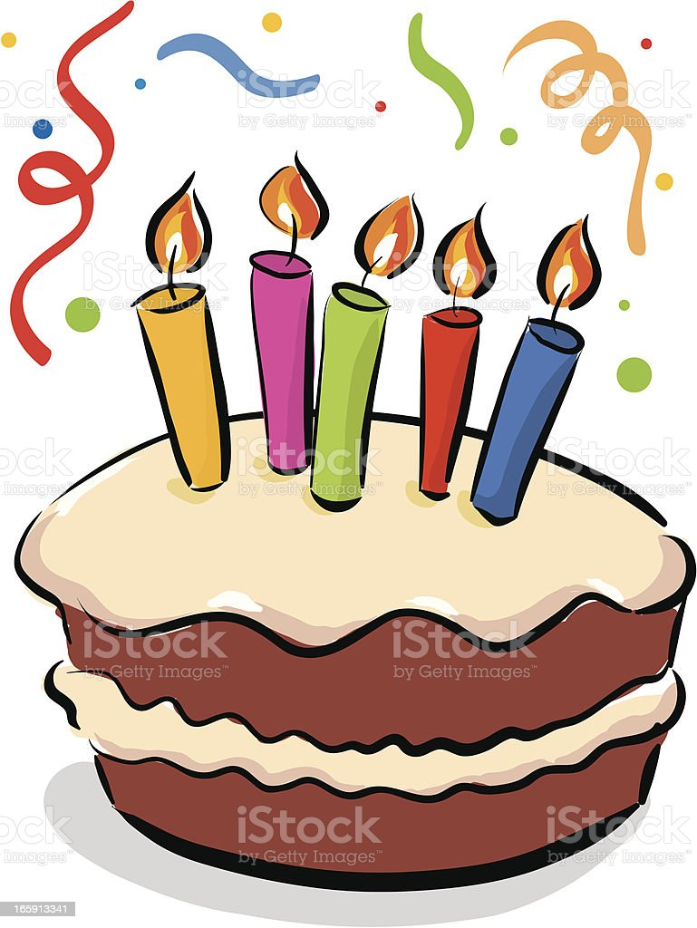 Cartoon Birthday Cake Images With Name : Geburtstagstorte Vektor Illustration 165913341 iStock