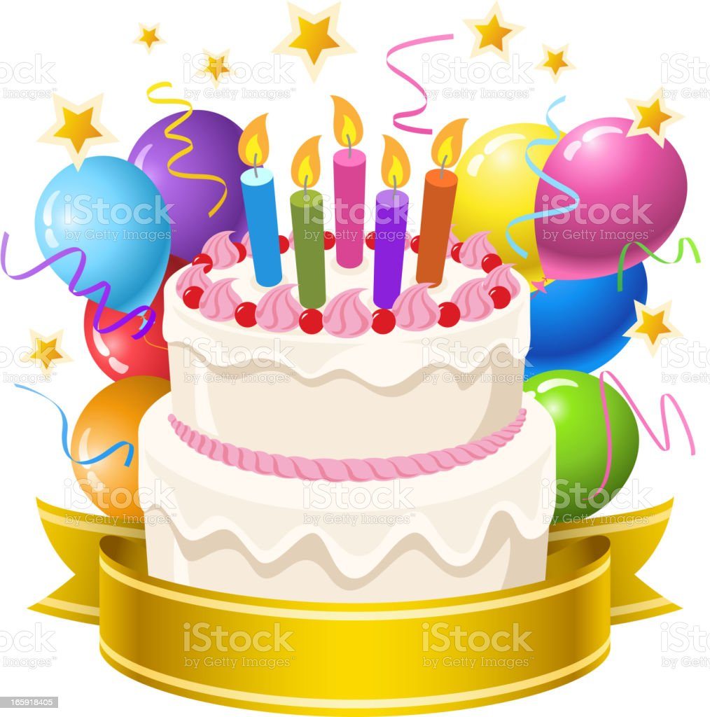 Birthday Cake Stock Vector Art More Images of Baked 165918405 iStock