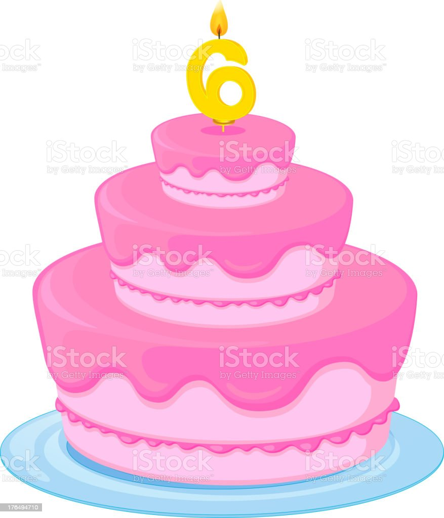 Royalty Free Clip Art Of A Happy Birthday Cake Text Clip Art Vector