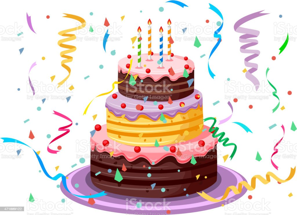 Birthday Cake Stock Vector Art More Images of 2015 471889122 iStock