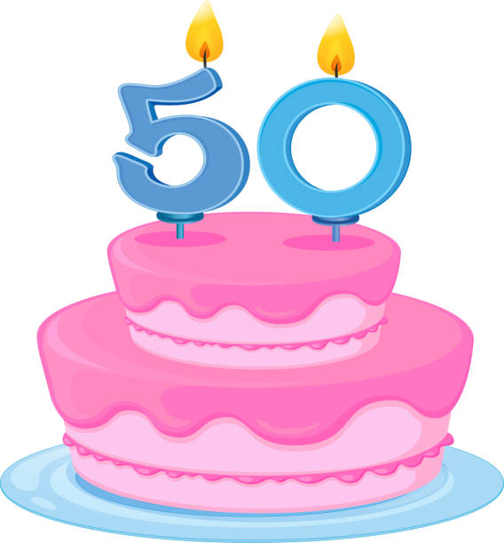 Background Of The 50 Year Old Birthday Cake Clip Art Vector Images Illustrations