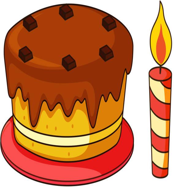 Gâteau d'anniversaire - Illustration vectorielle