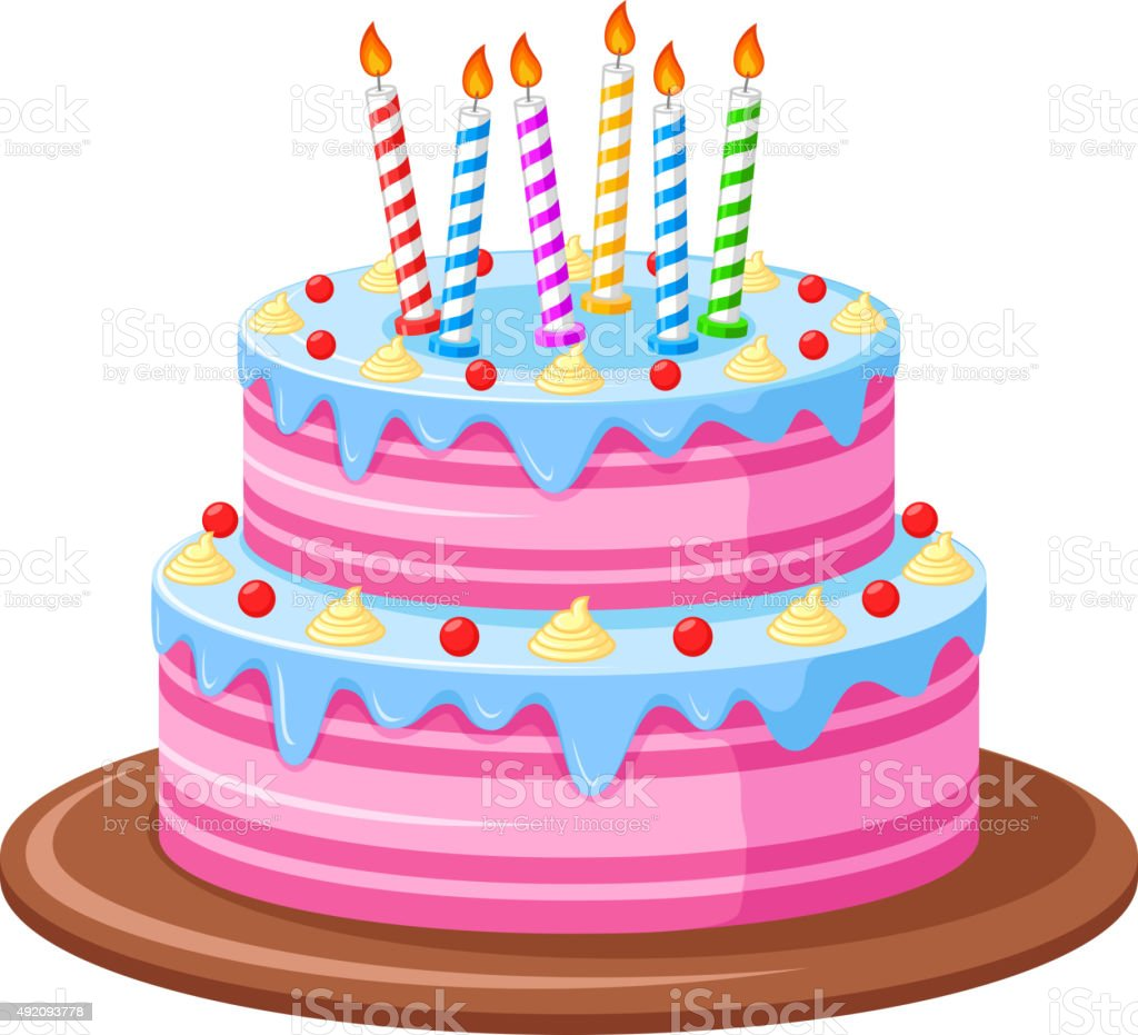 birthday cake stock vector art more images of 2015 492093778 istock rh istockphoto com vector birthday cake silhouette birthday cake vector ai