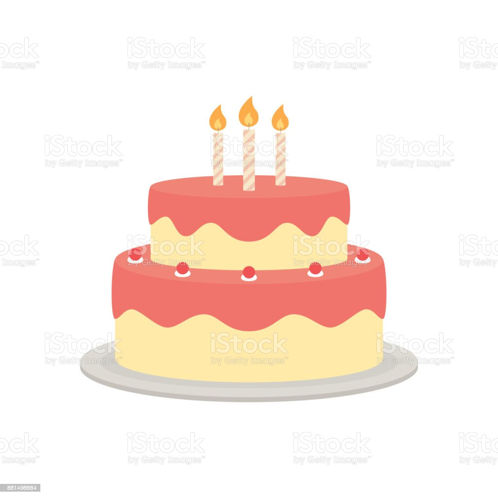 Birthday cake vector isolated illustration vector art illustration