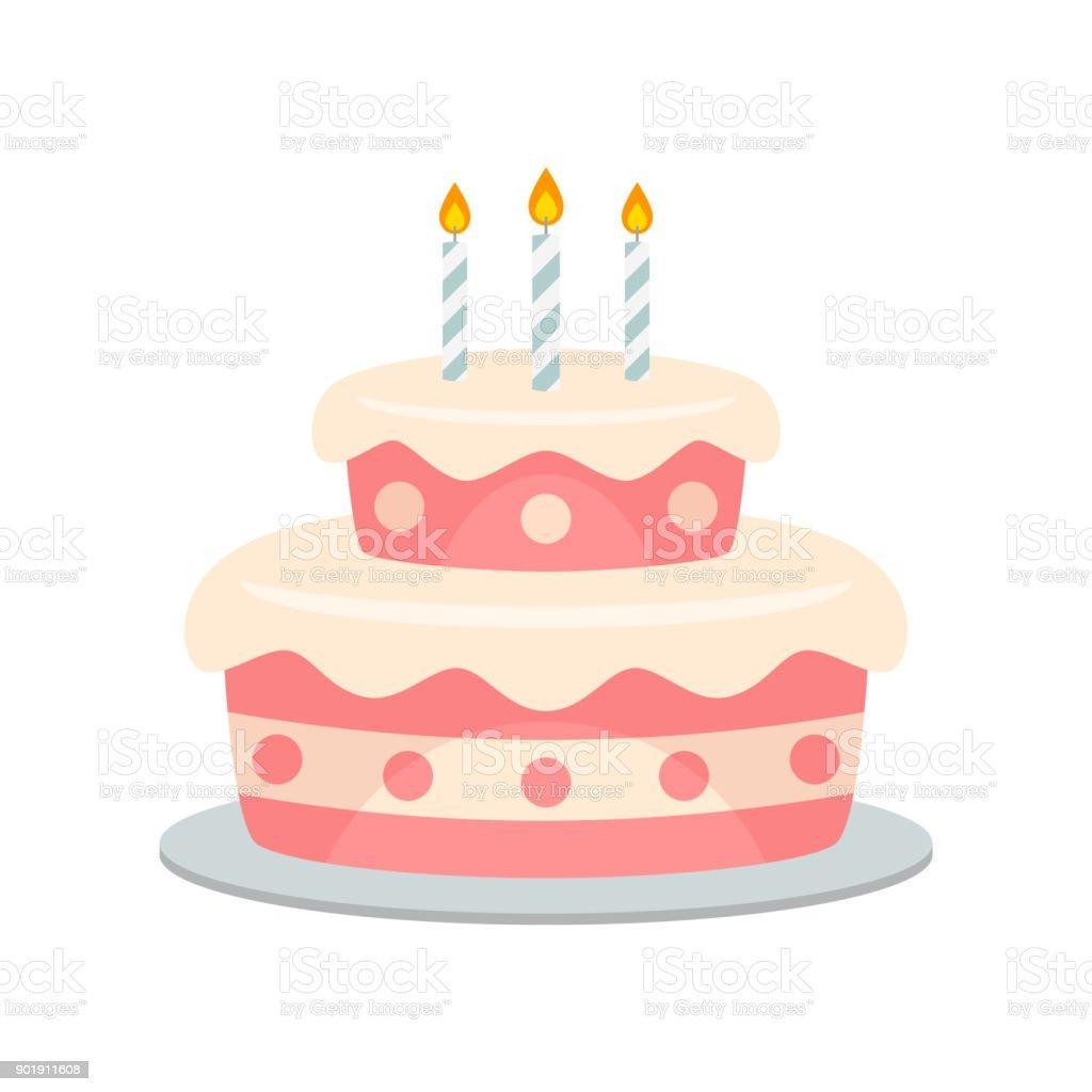 誕生日ケーキ ベクトル分離 お祝いのベクターアート素材や画像を多数ご