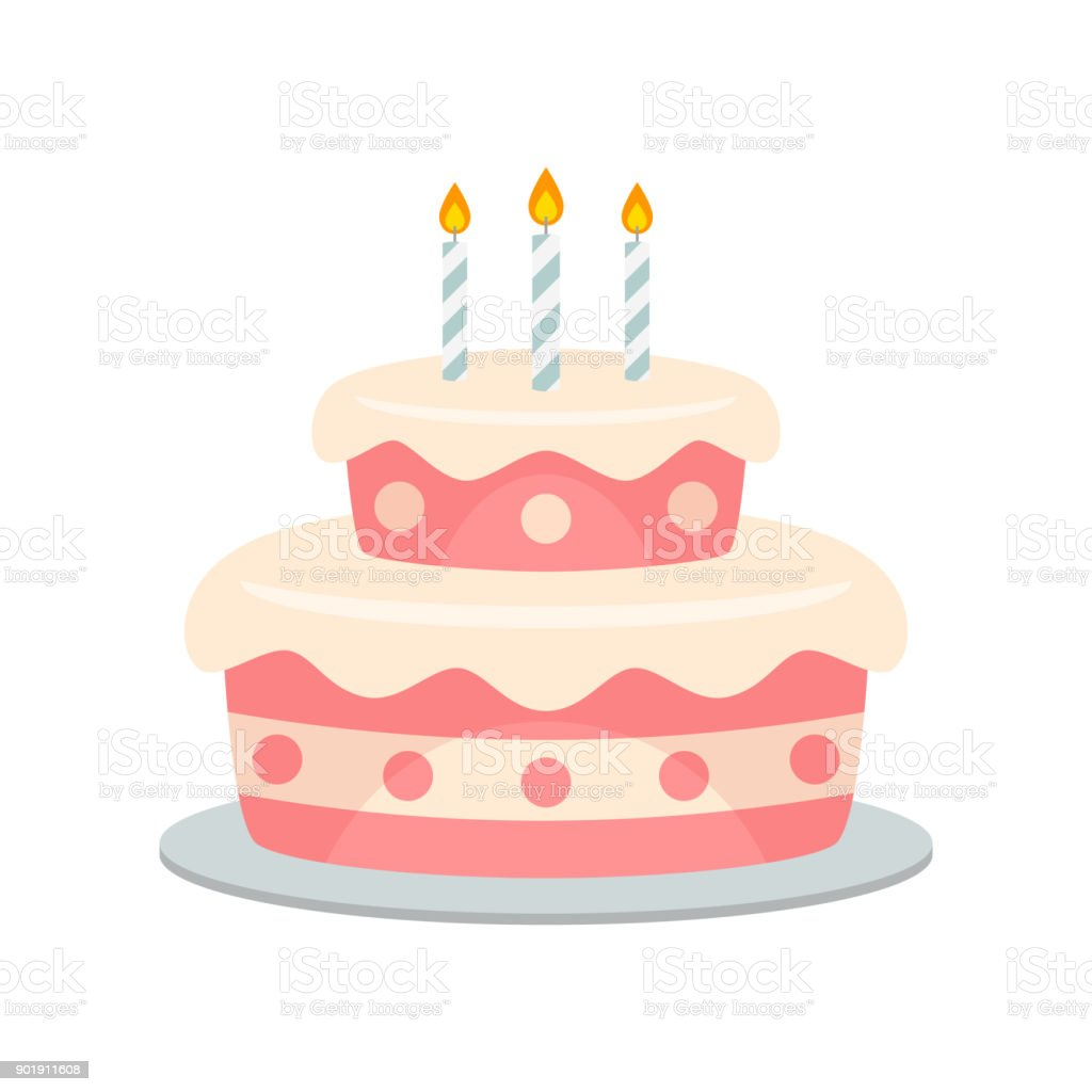 Birthday cake vector isolated vector art illustration