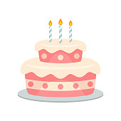 Birthday Cake Icon Vector Stock Vector Art More Images Of Bakery