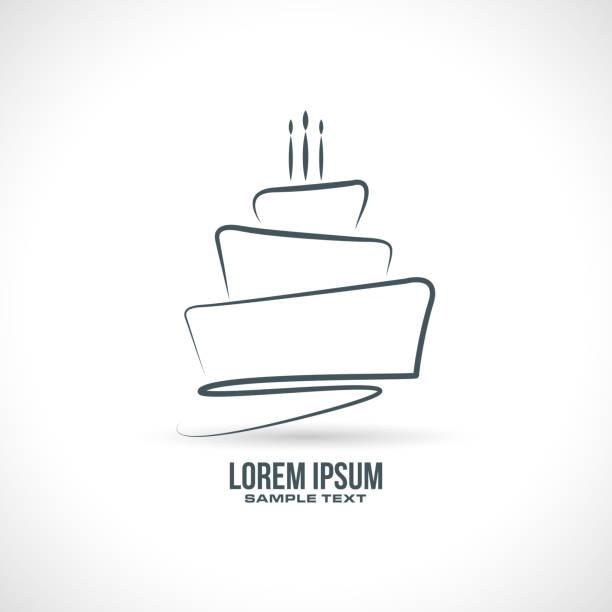 tort urodzinowy wektor - ciasto stock illustrations
