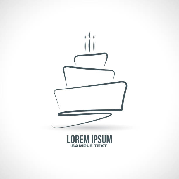 Birthday Cake Vector Birthday Cake sketch design in vector format cake stock illustrations