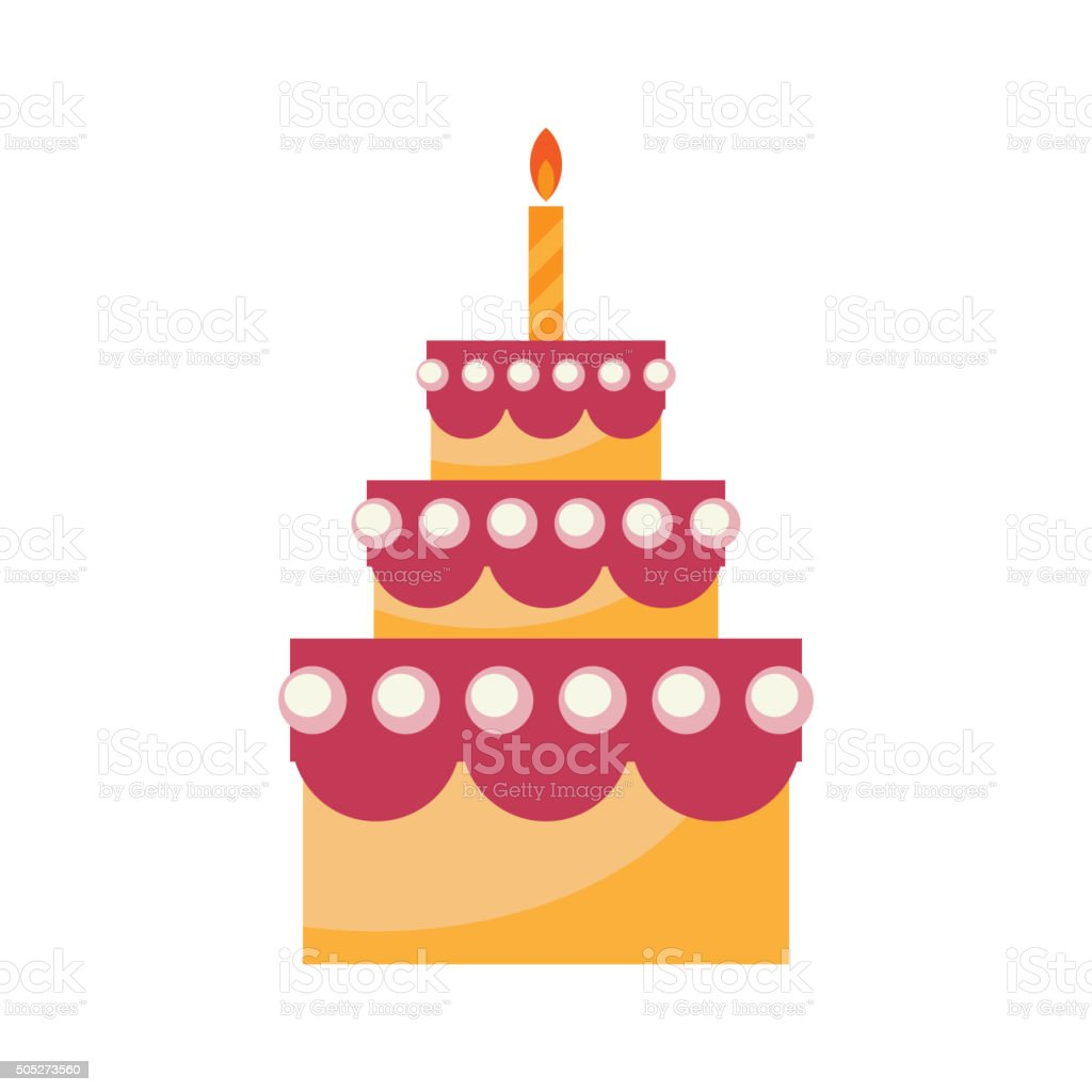 Birthday Cake Vector Stock Vector Art More Images of Anniversary