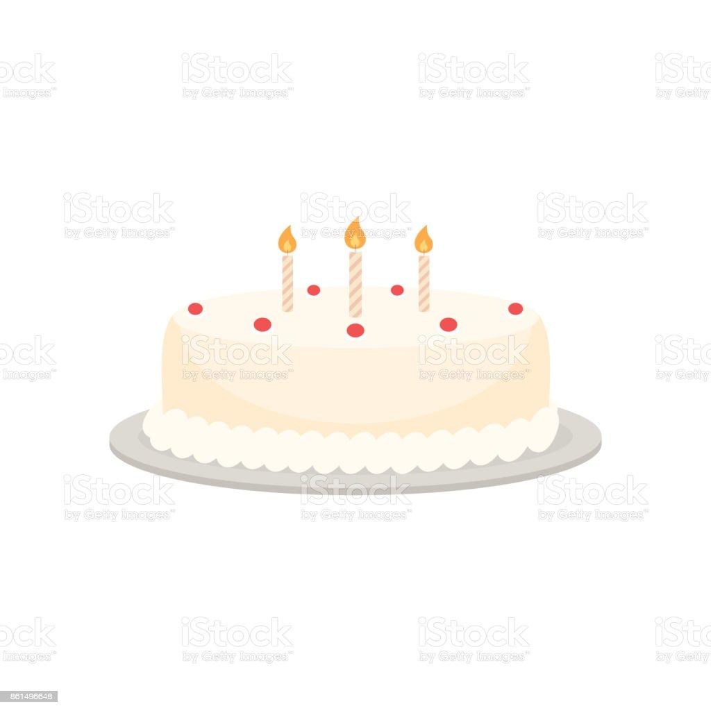 Birthday cake vector vector art illustration