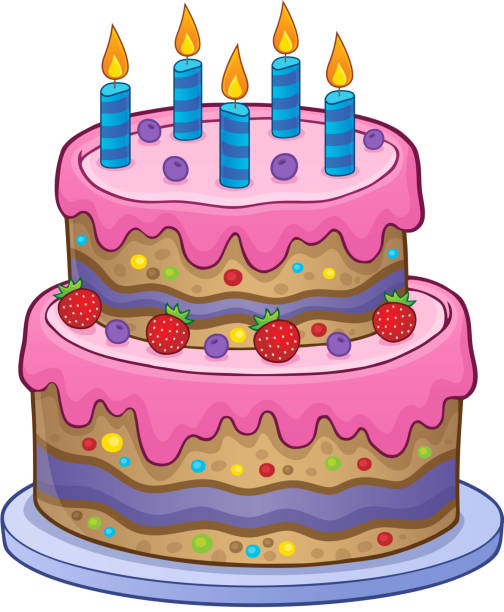 Royalty Free Fancy Birthday Cakes Clip Art Clip Art Vector Images