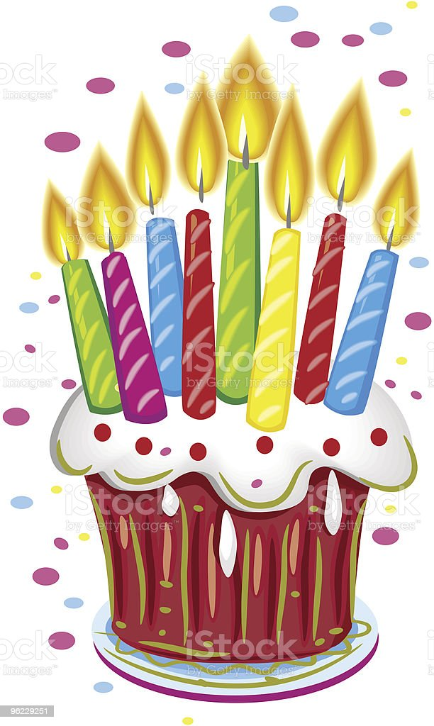 Birthday cake with candles royalty-free birthday cake with candles stock vector art & more images of baked