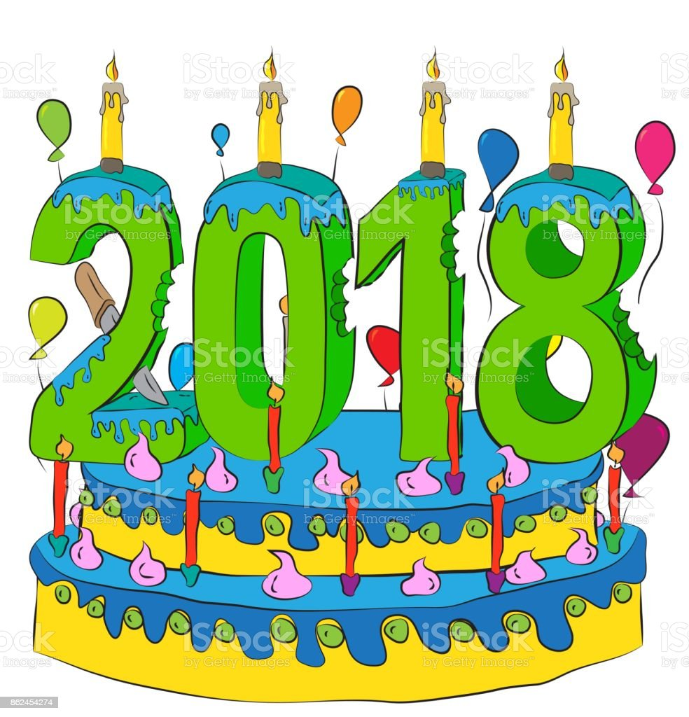 Image result for birthday cake with 2018 candles