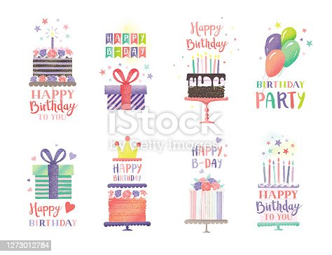 Birthday cakes and gifts