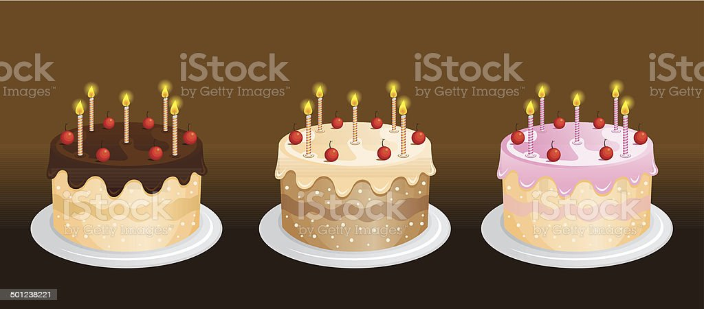 birthday cakes royalty-free stock vector art