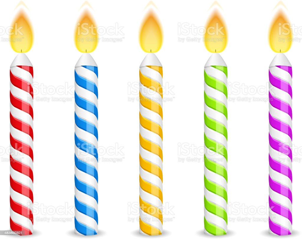 royalty free birthday candle clip art vector images illustrations rh istockphoto com birthday candle flame clipart birthday candle clipart black and white