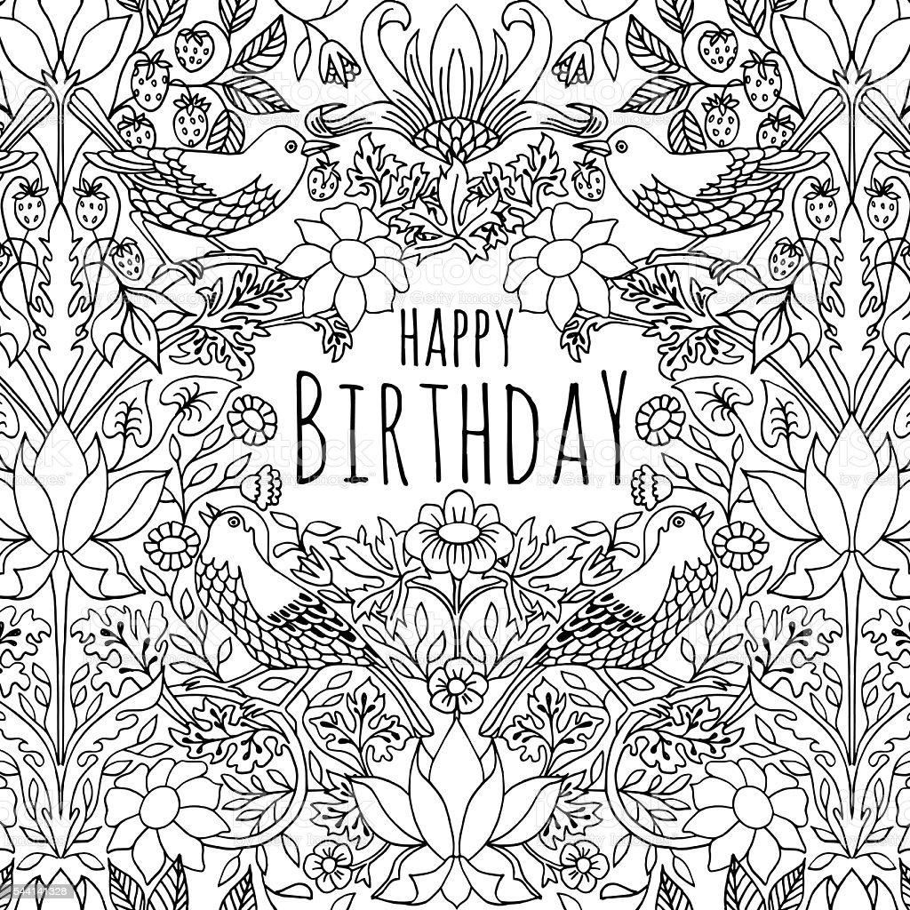Geburtstagskartedesign Stock Vektor Art und mehr Bilder von