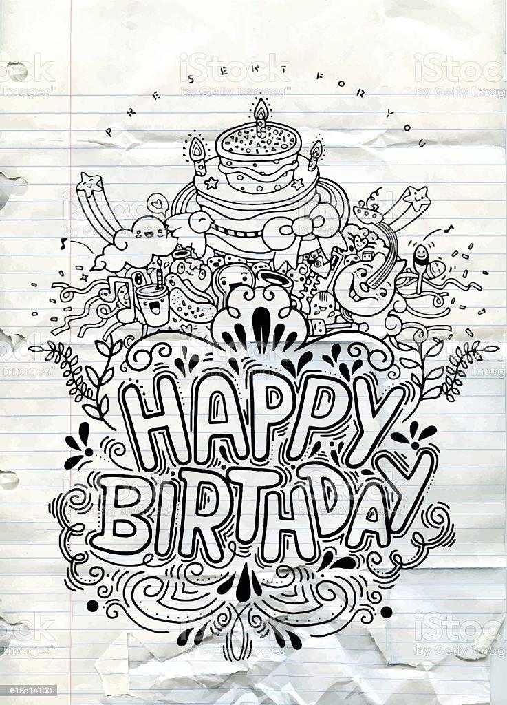Surprising Birthday Card Design Vintage Style Template Stock Illustration Personalised Birthday Cards Bromeletsinfo