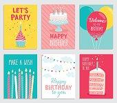 Birthday card set.