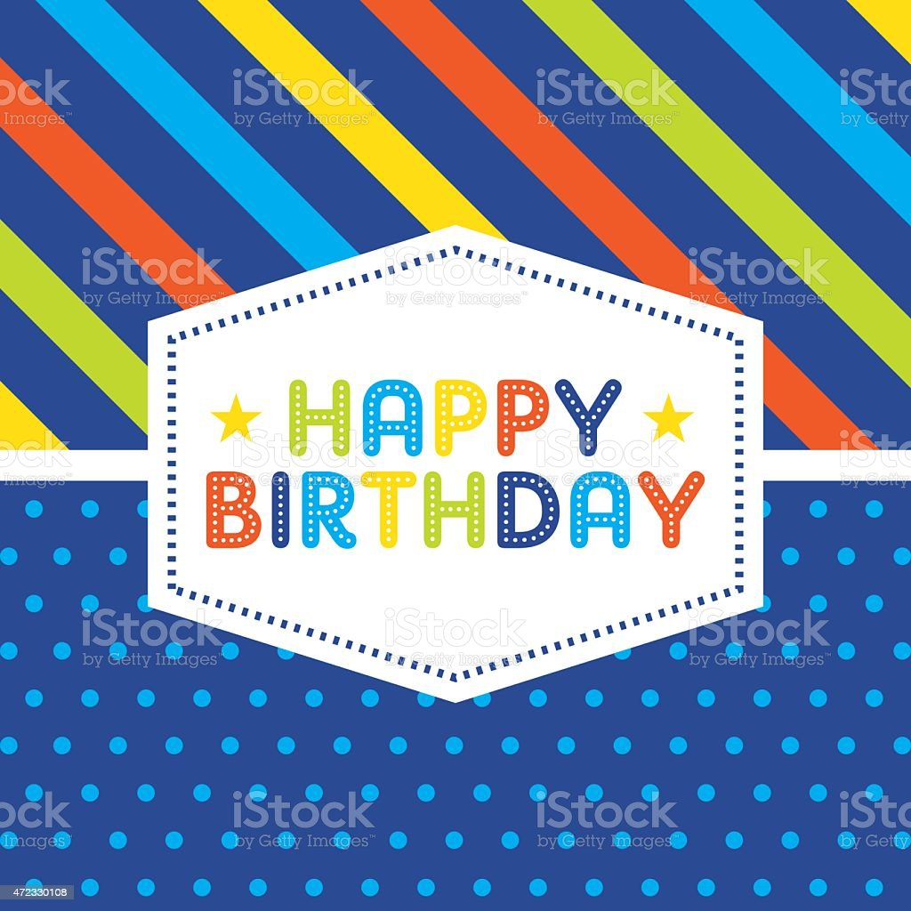 Birthday Card vector art illustration