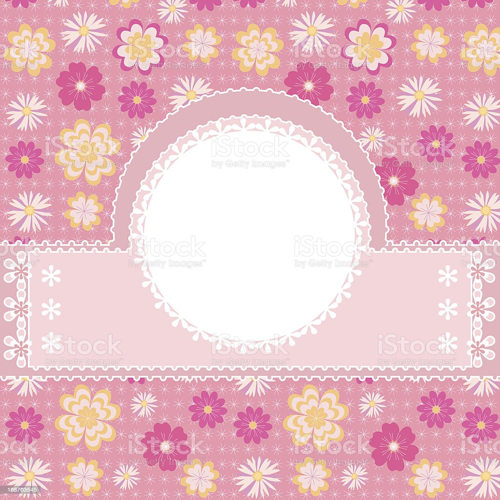 Birthday card with flowers royalty-free stock vector art