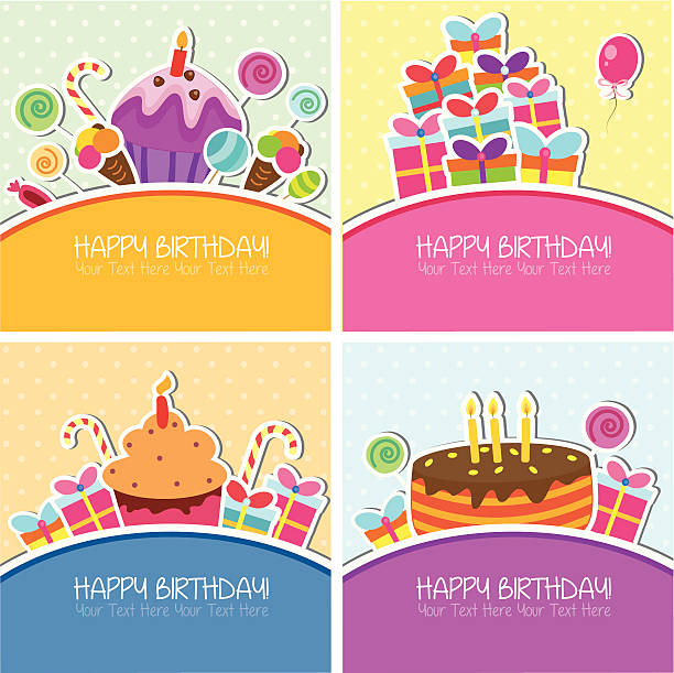 Birthday Card Clip Art Vector Images Illustrations iStock – Vector Birthday Cards