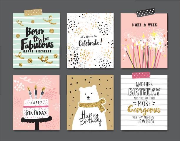 geburtstagskarten - geburtstagsgeschenk stock-grafiken, -clipart, -cartoons und -symbole